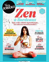 couverture de magazine vivre bordaux