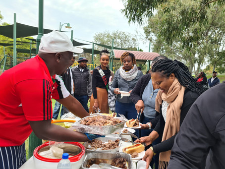 Barbecue Meeting with the Kenyan High Commissioner to Australia. Amb. John Tipis