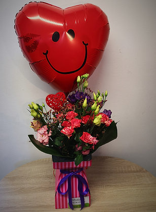 Sweetheart Bouquet and Balloon