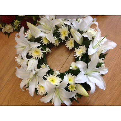 Traditional White Wreath