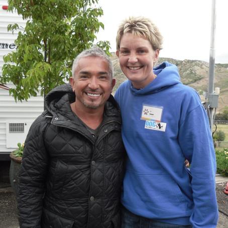 Jo Cottrell training with Cesar Millan