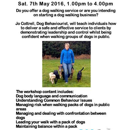 Dog Walker Workshop May 7th, 2016