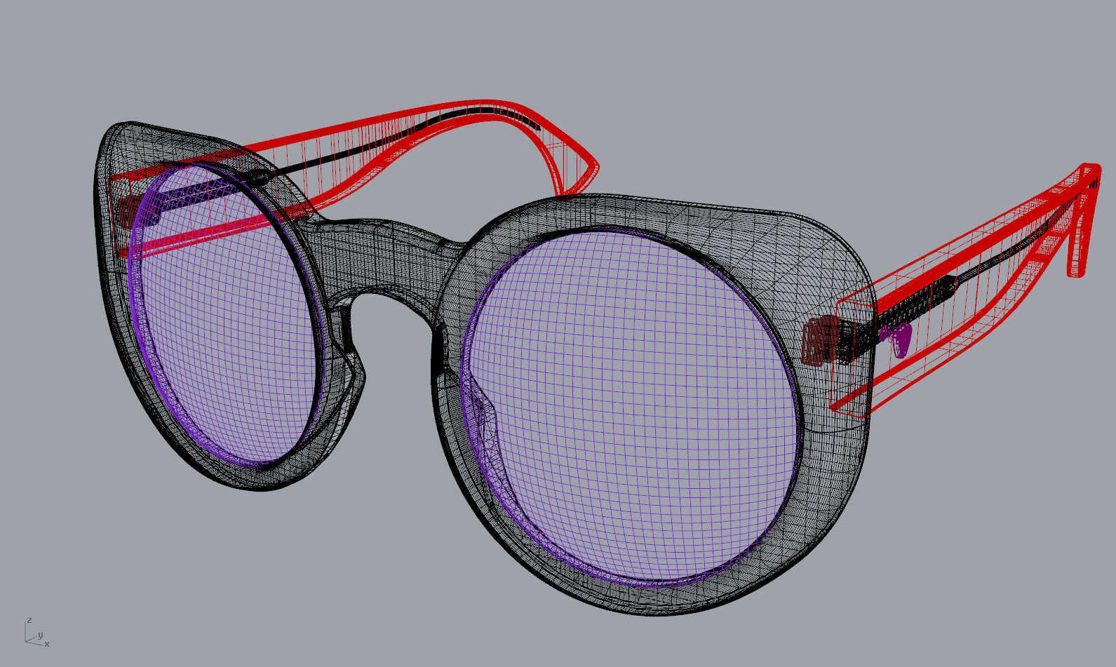 Eyewear designer, 3D  Rhinoceros