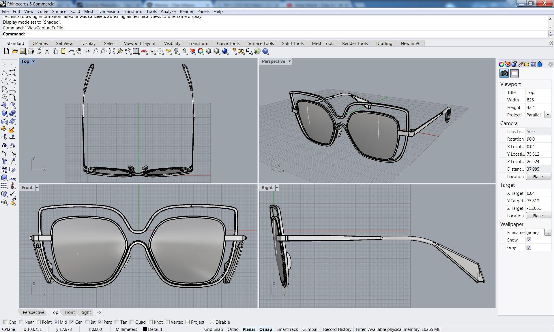Eyewear designer