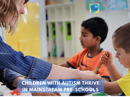 Children with autism thrive in mainstream pre-schools