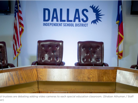 Should every special-education classroom be recorded? Dallas ISD trustees are debating cameras