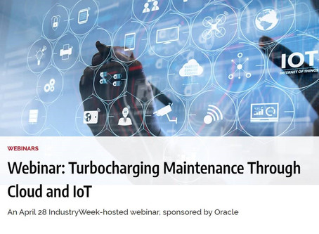 Webinar: Turbocharging Maintenance Through Cloud and loT