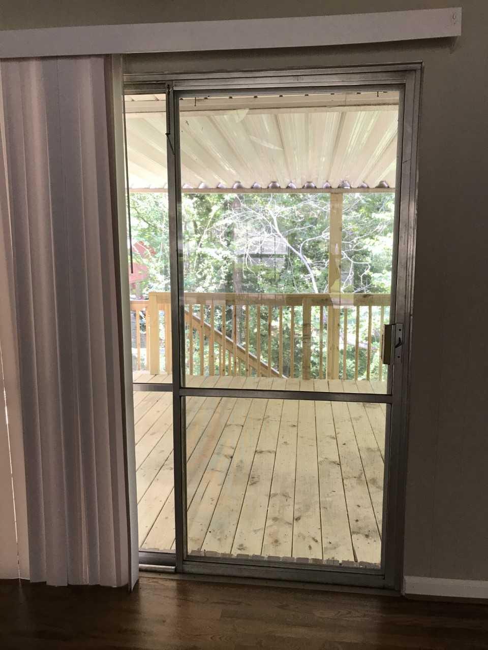 sliding door to deck