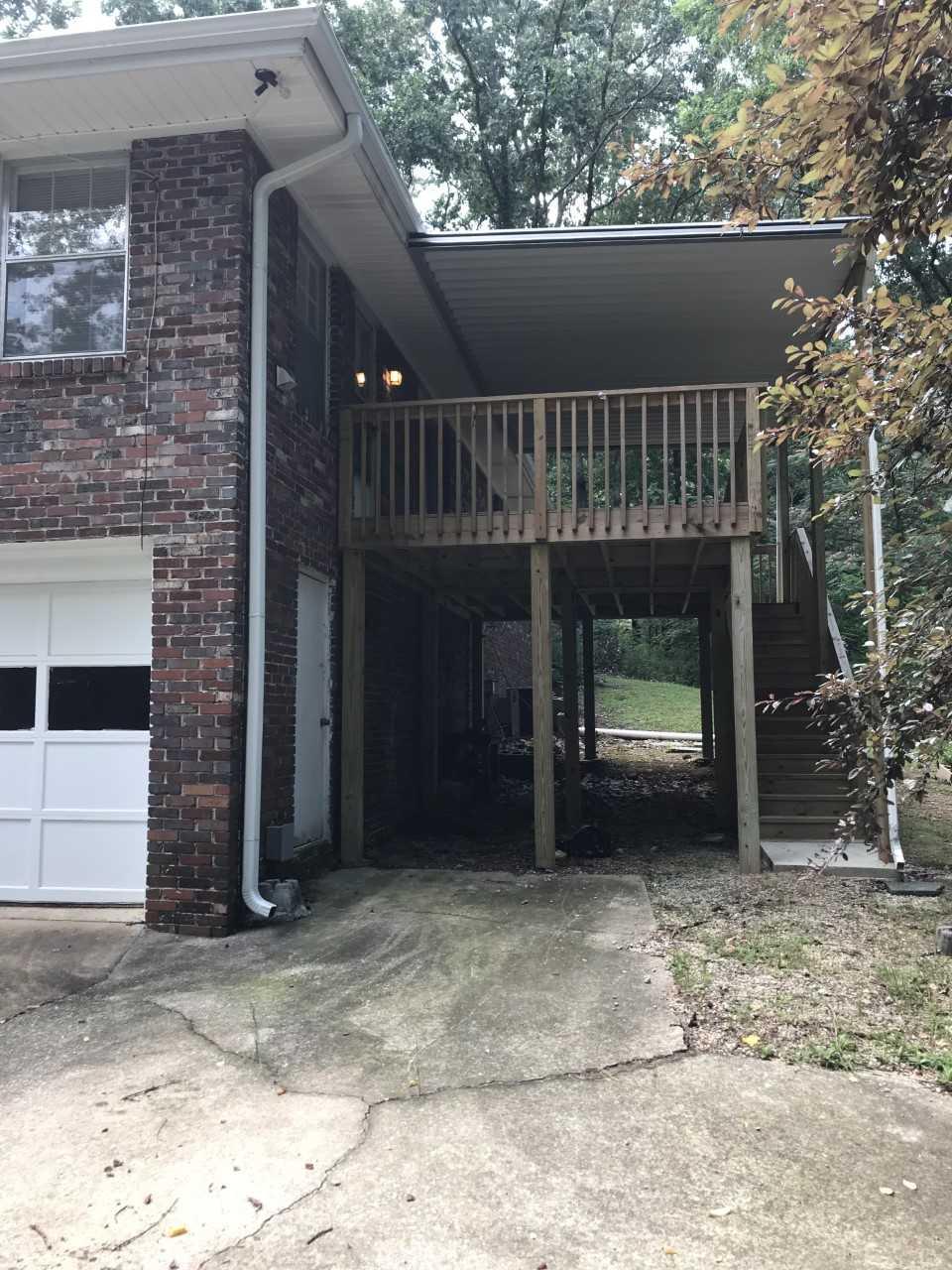 garage and deck