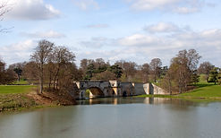 the bridge of over the lake at Blenheim Palace