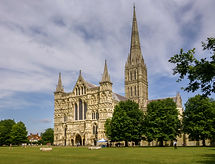 England's tallest spire at Salisbury Cathedra