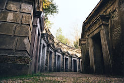 the atmosperic Circle of Lebanon at Highgate Cemetery