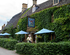 The charming Falkland Arms Pub in the Cotswolds - they do a great lunch here