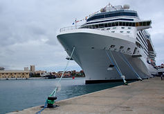Cruise Ship dockd at Southampton ready for your transfer tour