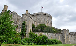 The Round Tower at Windsor Castle where queen Elizabeth II lives