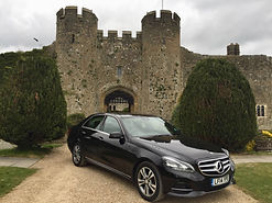 Chas's smart Mercedes E class saloon - used to drive guests on their tours