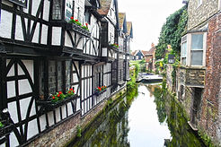 A charming waterway in the Roman City of Canterbury