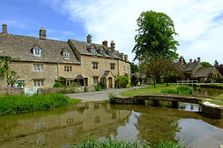 The ford at the charming Cotswold village of Lower Slaughter