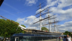 The Cutty Sark sailing clipper at Maritime Greenwhich - it was the fastest sailing ship of its time