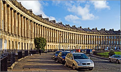The majestic sweep of the Royal Crescent in Bath