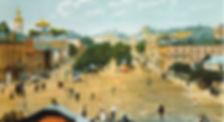 Вид н аСтрастной бульвар, раскрашенная открытка