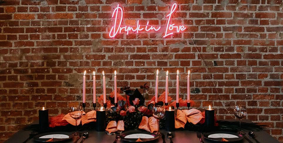 Tischdeko Neonschild Event Styling Hochzeitsdeko Floristik