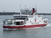 Red Funnel ferry, taxis from East Cowes ferry terminal to all destinations on Isle of Wight