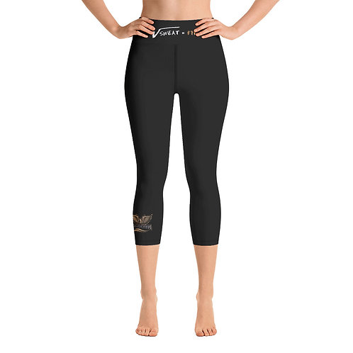 Phoenix Black Yoga Capri Leggings