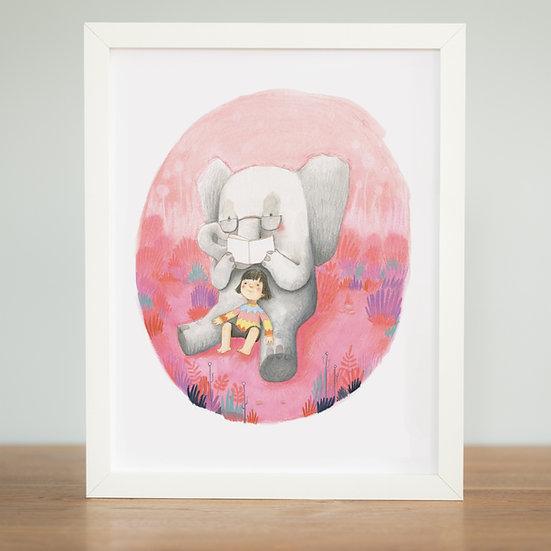 Elephant Reading - Print