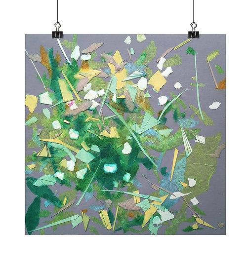 'Garden VII' Square Fine Art Print