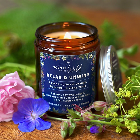Relax & Unwind | Natural Soy Wax Candle