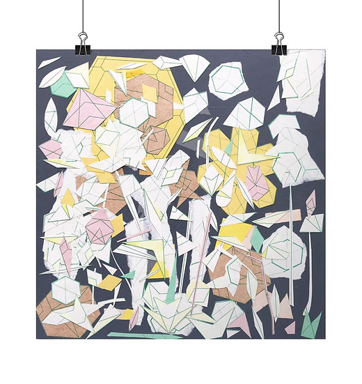 'Garden V' Square Fine Art Print