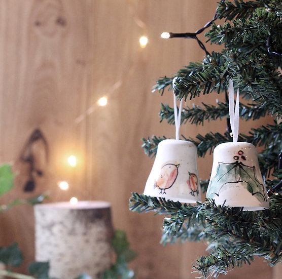 Jingle Bell Ceramic Decoration