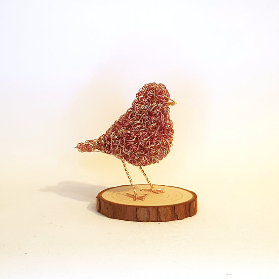 Small Abstract Wire Bird