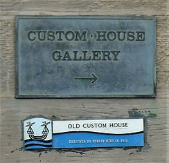 Old Custom House Gallery Plaque Leith.JP