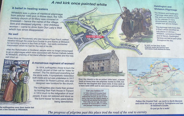 Whitekirk. East Lothian Info Board
