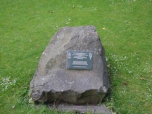 Belsen memorial stone princes street gardens edinburgh