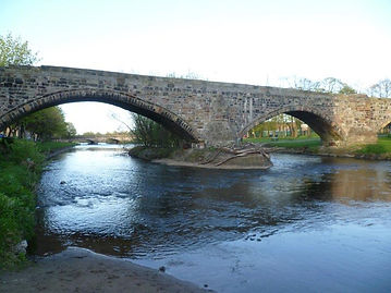 Roman bridge over the River Esk Musselbu