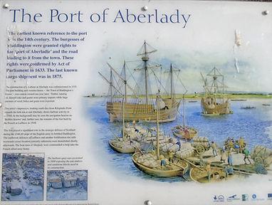 Port of Aberlady Information Board East Lothian