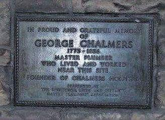 George Chalmer's Weir Close Canongate Ed