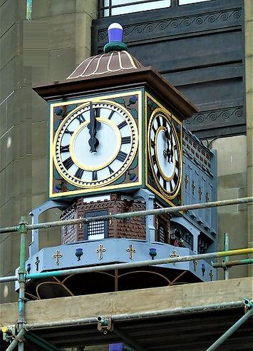 Princes Street Edinburgh Binns Clock