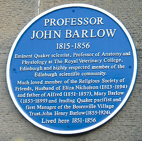 Blue Plaque Professor John Barlow
