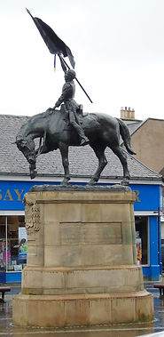 """The Statue of """"the Horse"""" known as Ken Hawick Scottish Borders"""