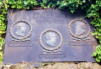 Three Tenors Plaque Calton Hill Edinburgh