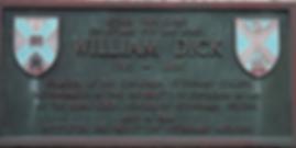 William Dick Plaque Canongate Edinburgh
