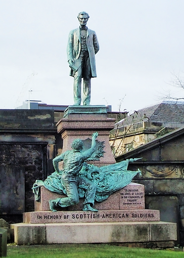 Abraham Lincoln Civil War Memorial Calton Burial Ground Edinburgh