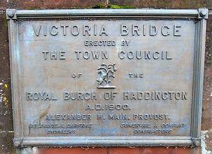 Victoria Bridge Plaque Haddington East L