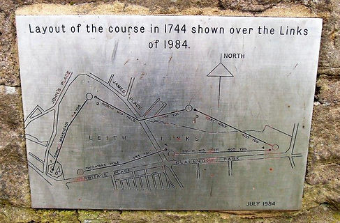 Leith Links Golf Course Layout 1744