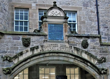 'The Queen's Rifle Volunteer Brigade The Royal Scots' Headquarters.'