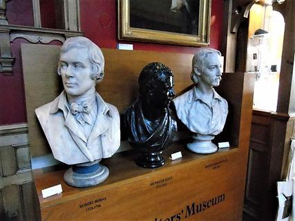Walter Scott, Robert Burns Robert Louis Stevenson Busts Writers' Museum Lawnmarket Royal Mile Edinburgh